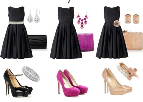1.ドレス以外の小物の色を2:1で合わせる