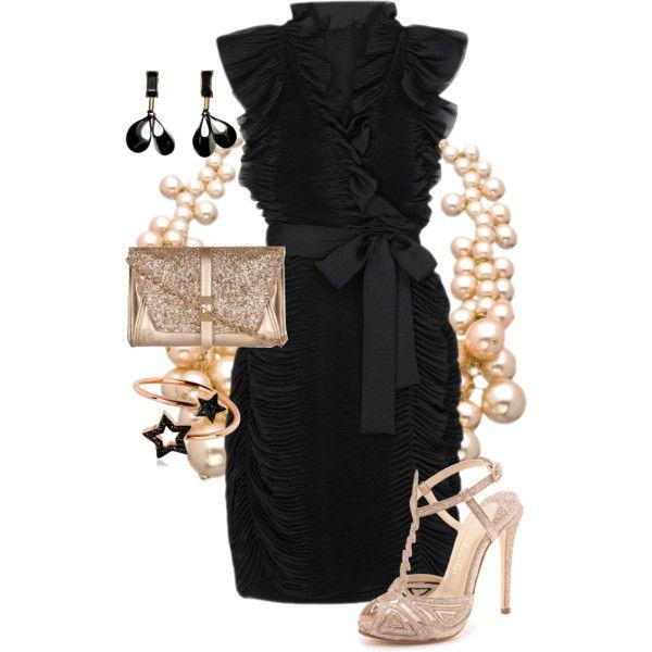 3.上品でシックなオールブラックスタイルをデザインや小物で華やかアクセント