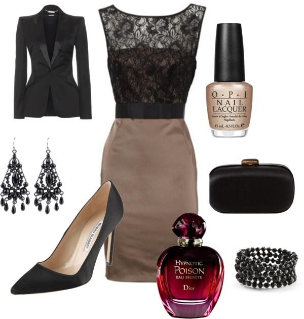 4.オシャレな黒のバイカラードレスをとりいれる