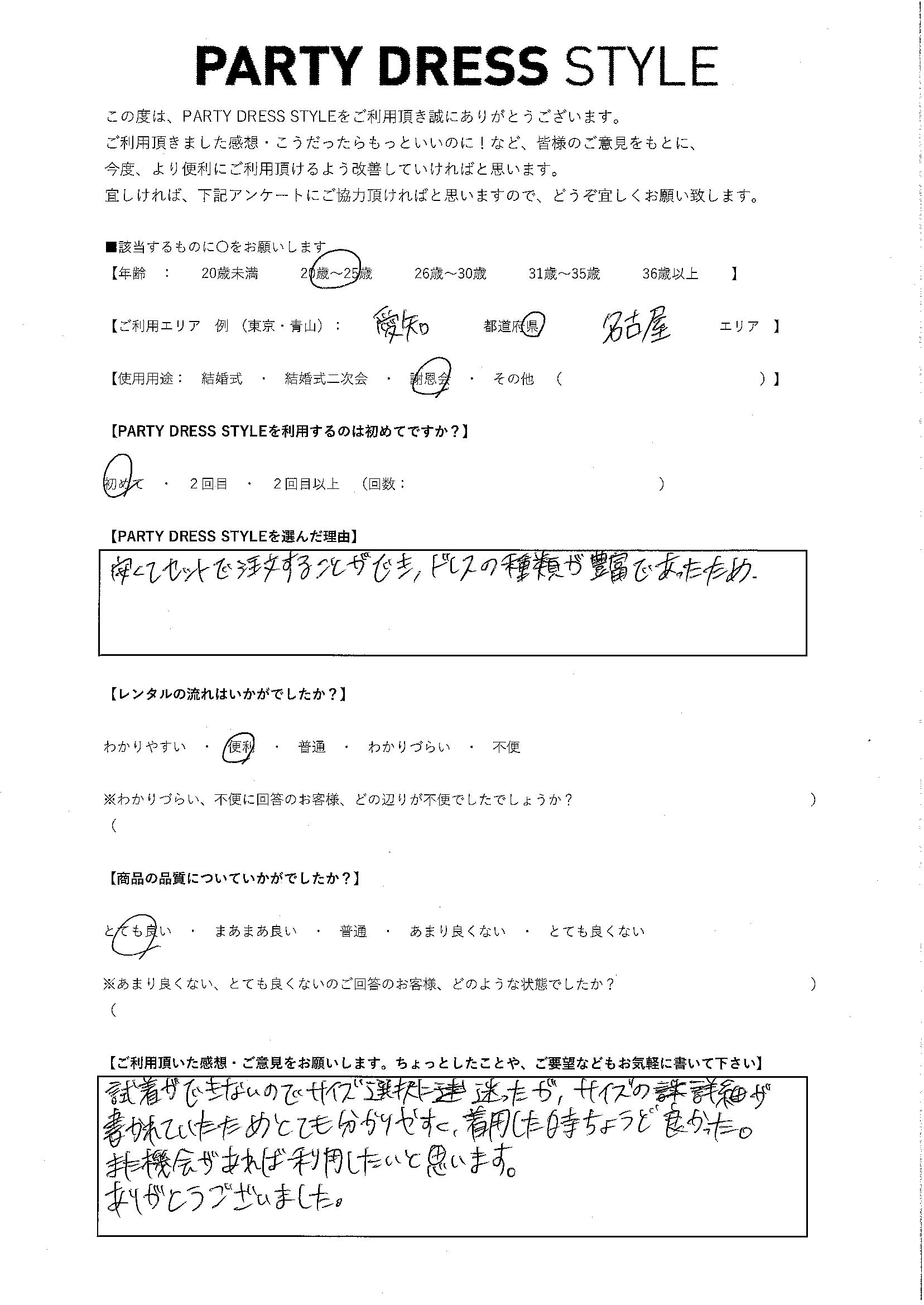 3/12 謝恩会 愛知・名古屋エリア