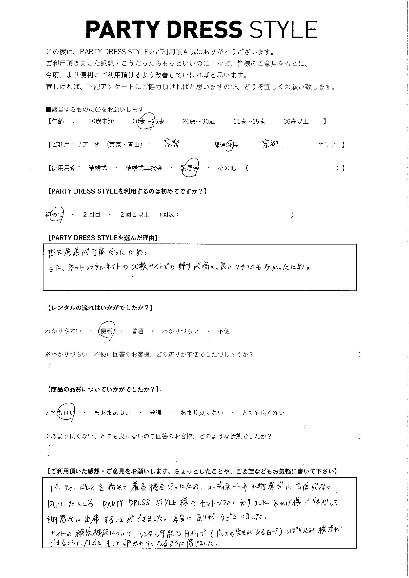 3/14 謝恩会 京都・京都エリア