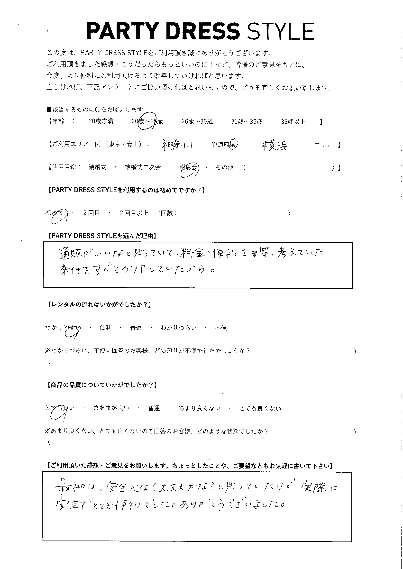 3/14 謝恩会 神奈川・横浜エリア
