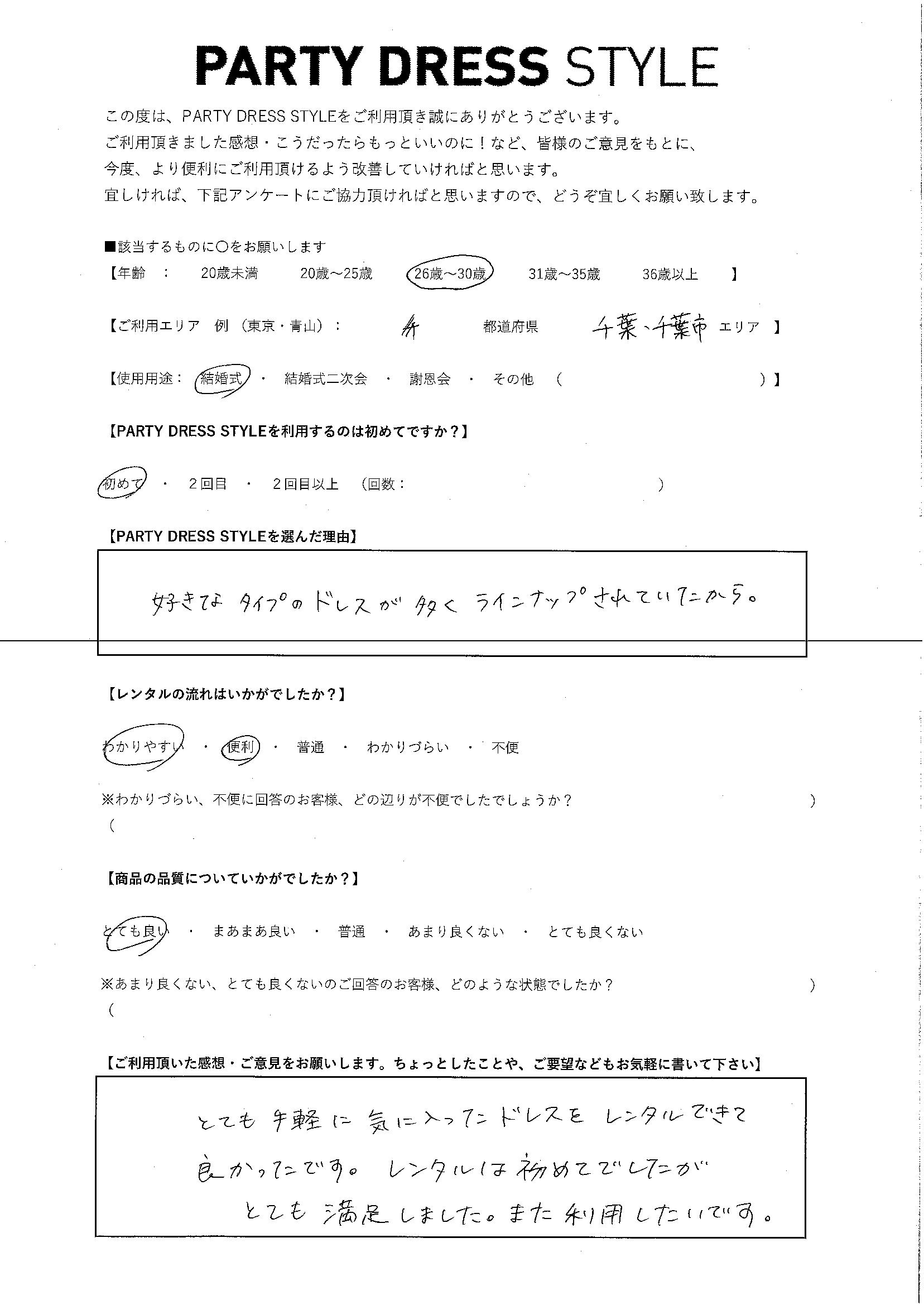 4/7  結婚式 千葉・千葉エリア