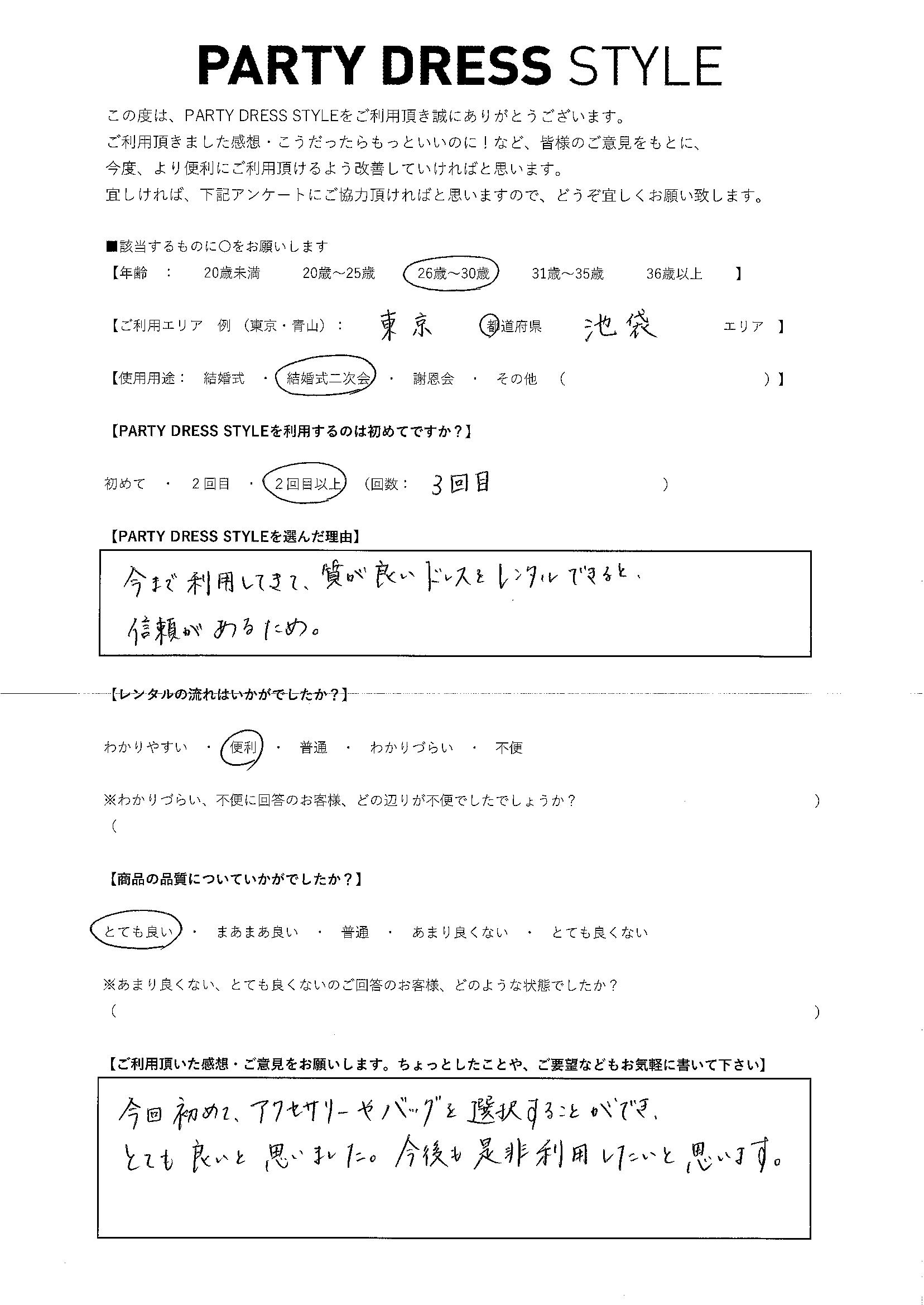 8/4結婚式二次会 東京都・池袋エリア