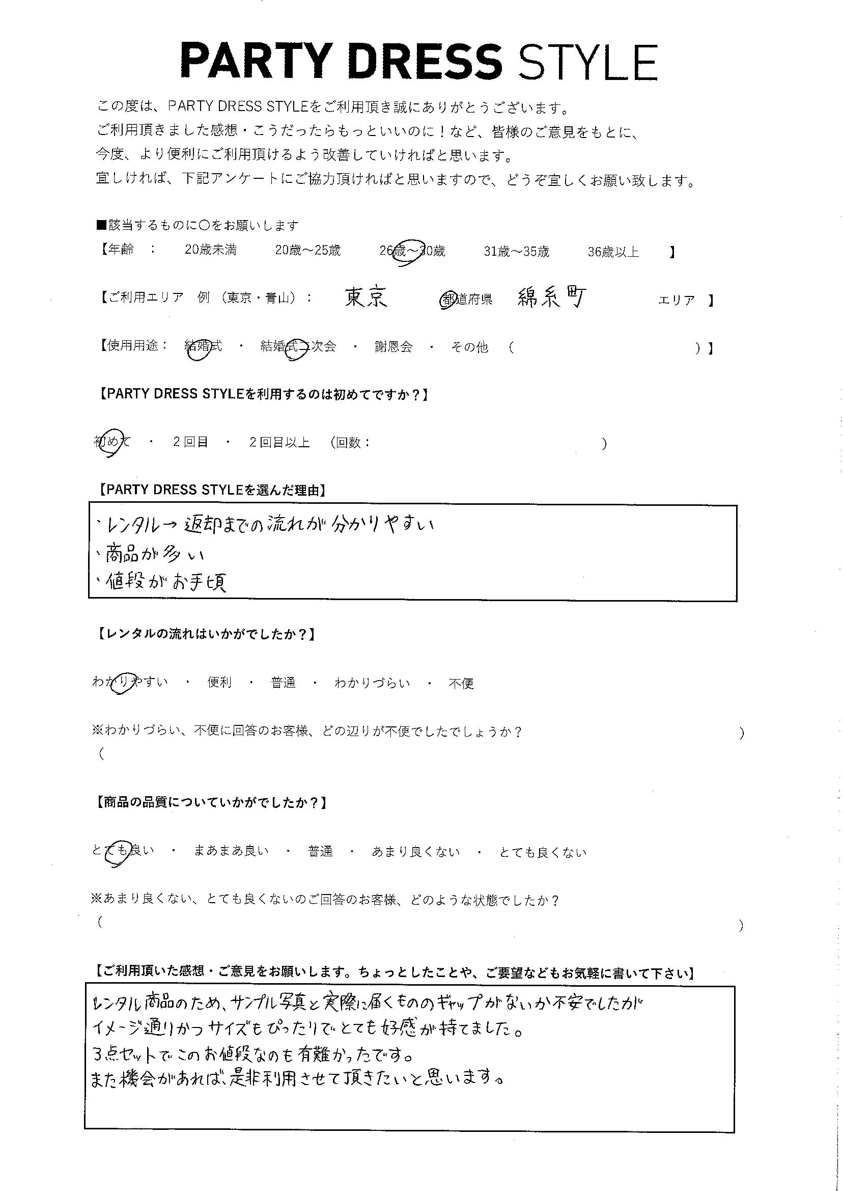 9/28結婚式・二次会 東京都・錦糸町エリア