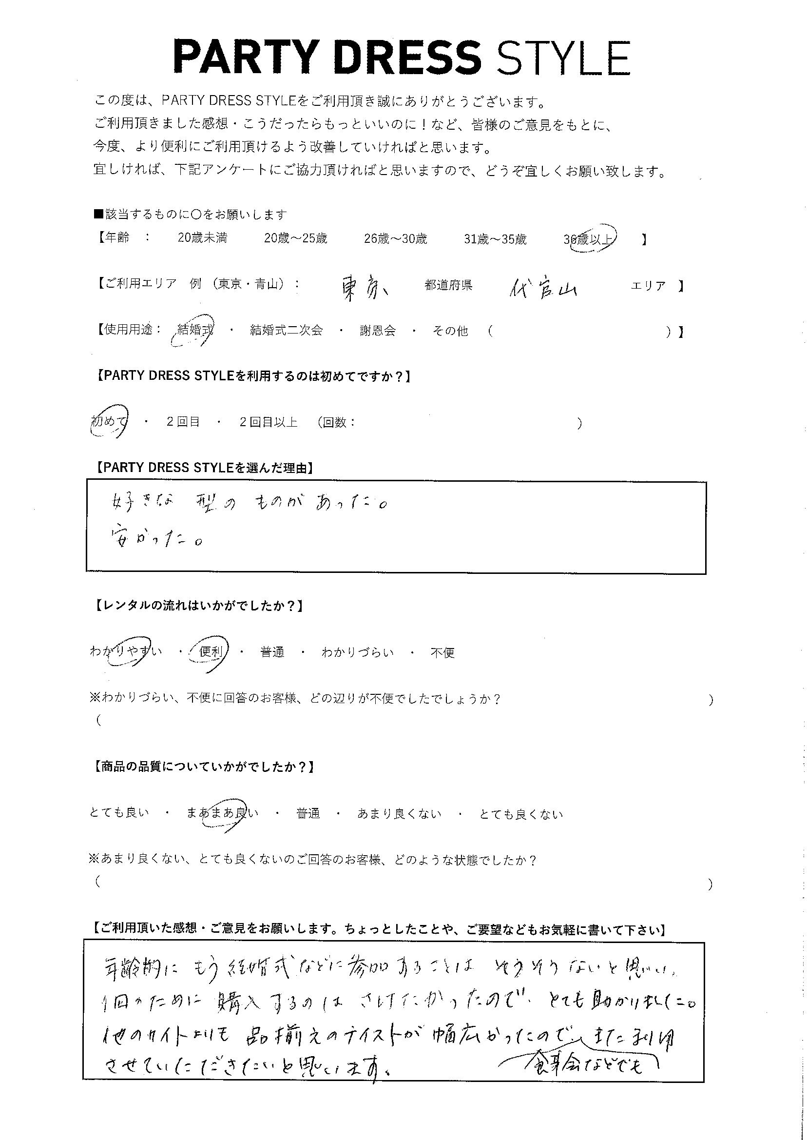 9/30結婚式 東京・代官山エリア