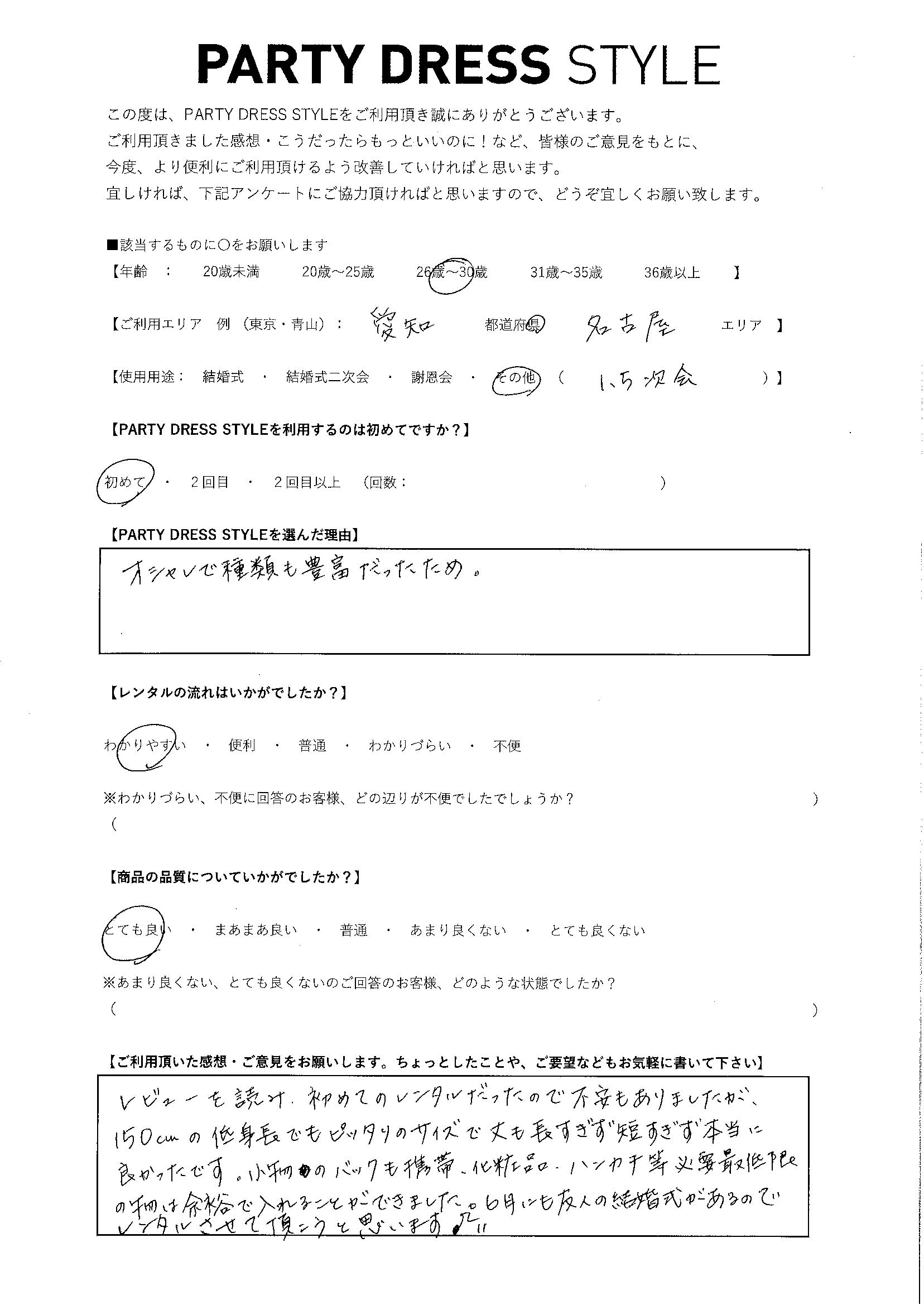 2/15 1.5次会ご利用 愛知・名古屋エリア