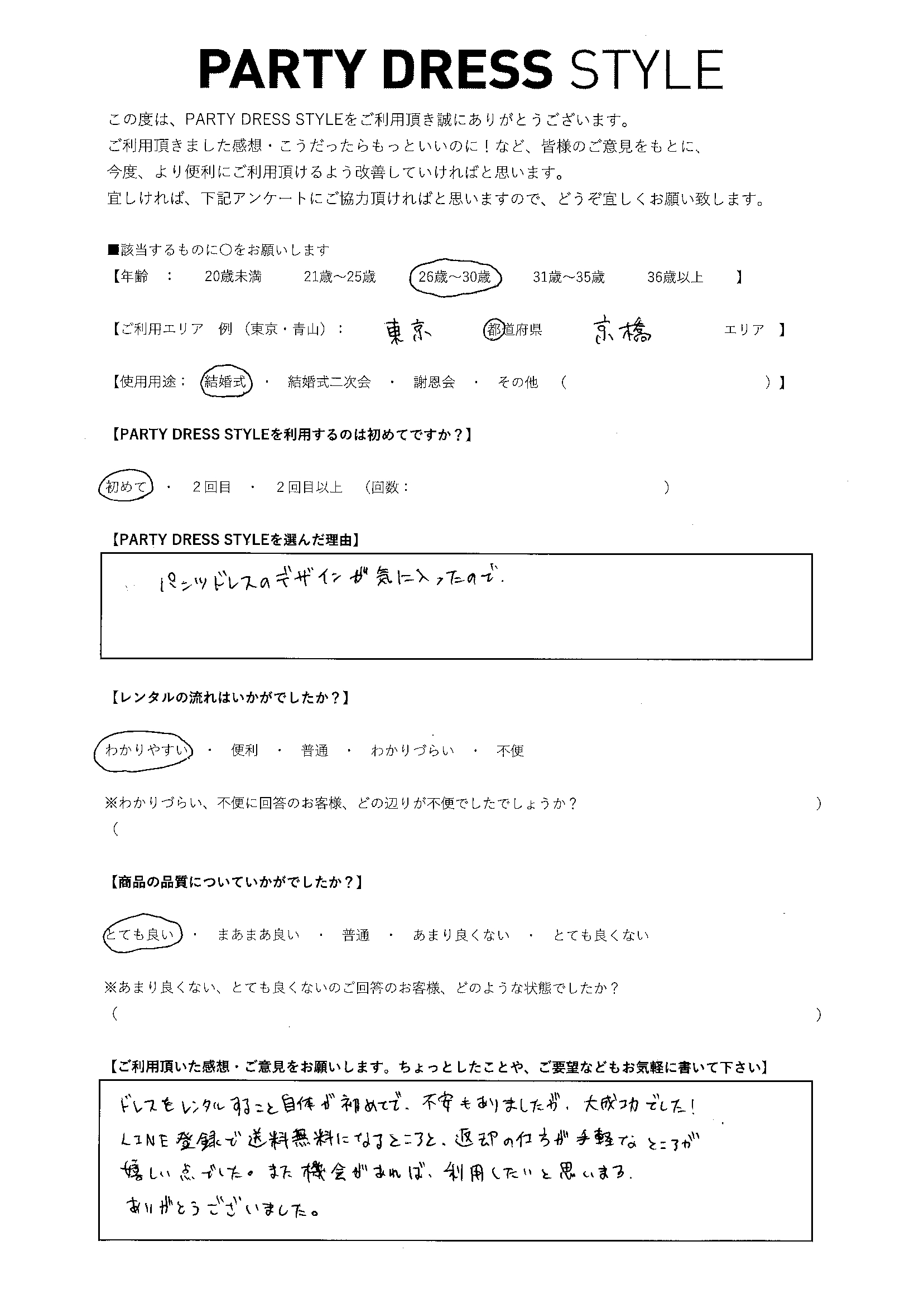 7/11結婚式ご利用 東京・京橋エリア