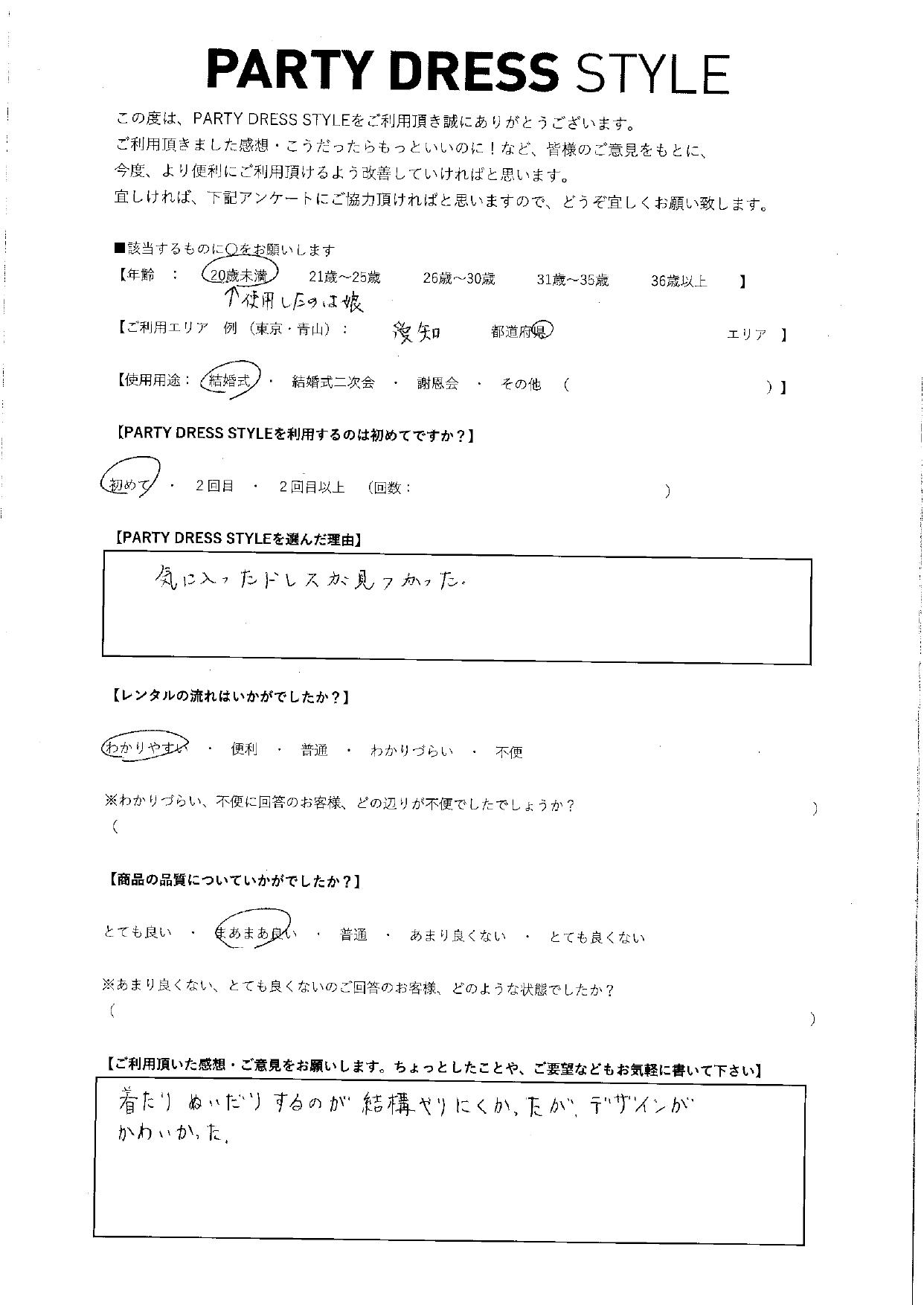 12/13結婚式ご利用 愛知エリア