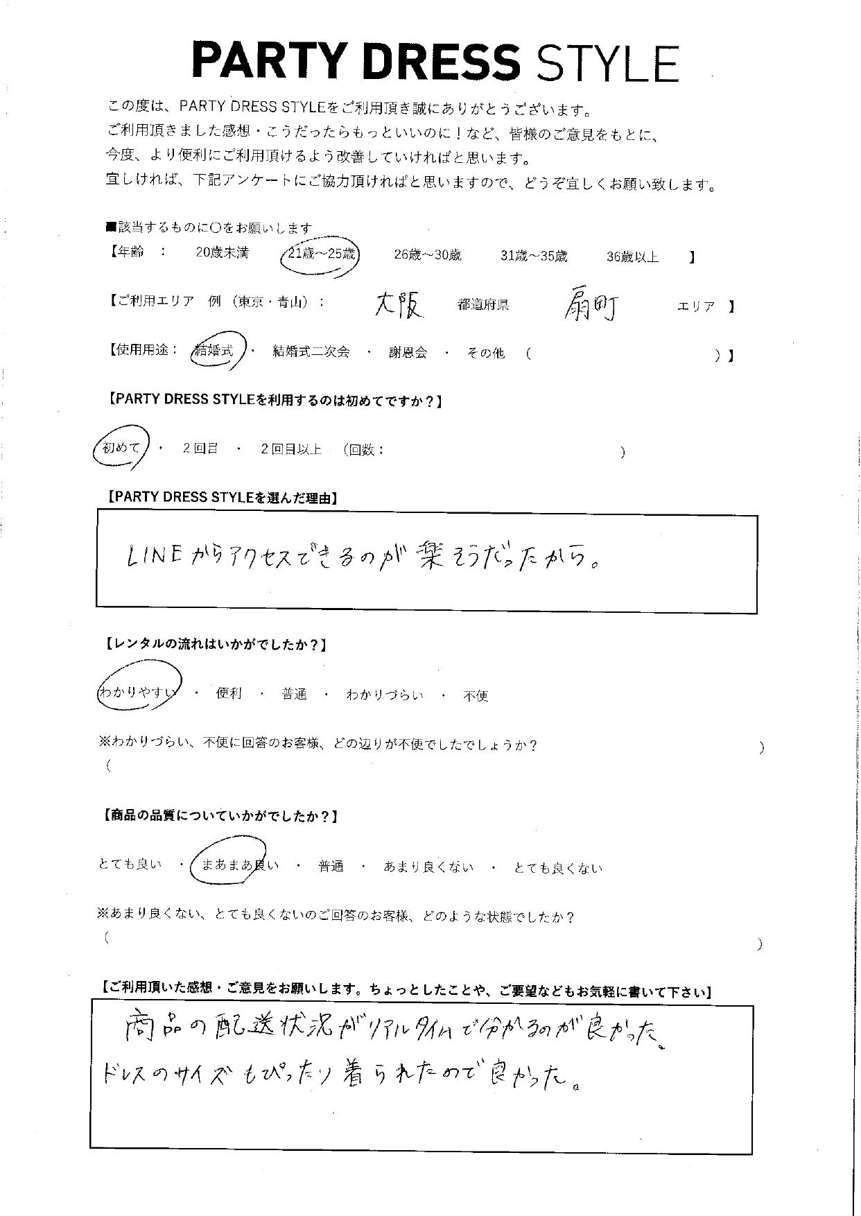 1/16結婚式ご利用 大阪・扇町エリア