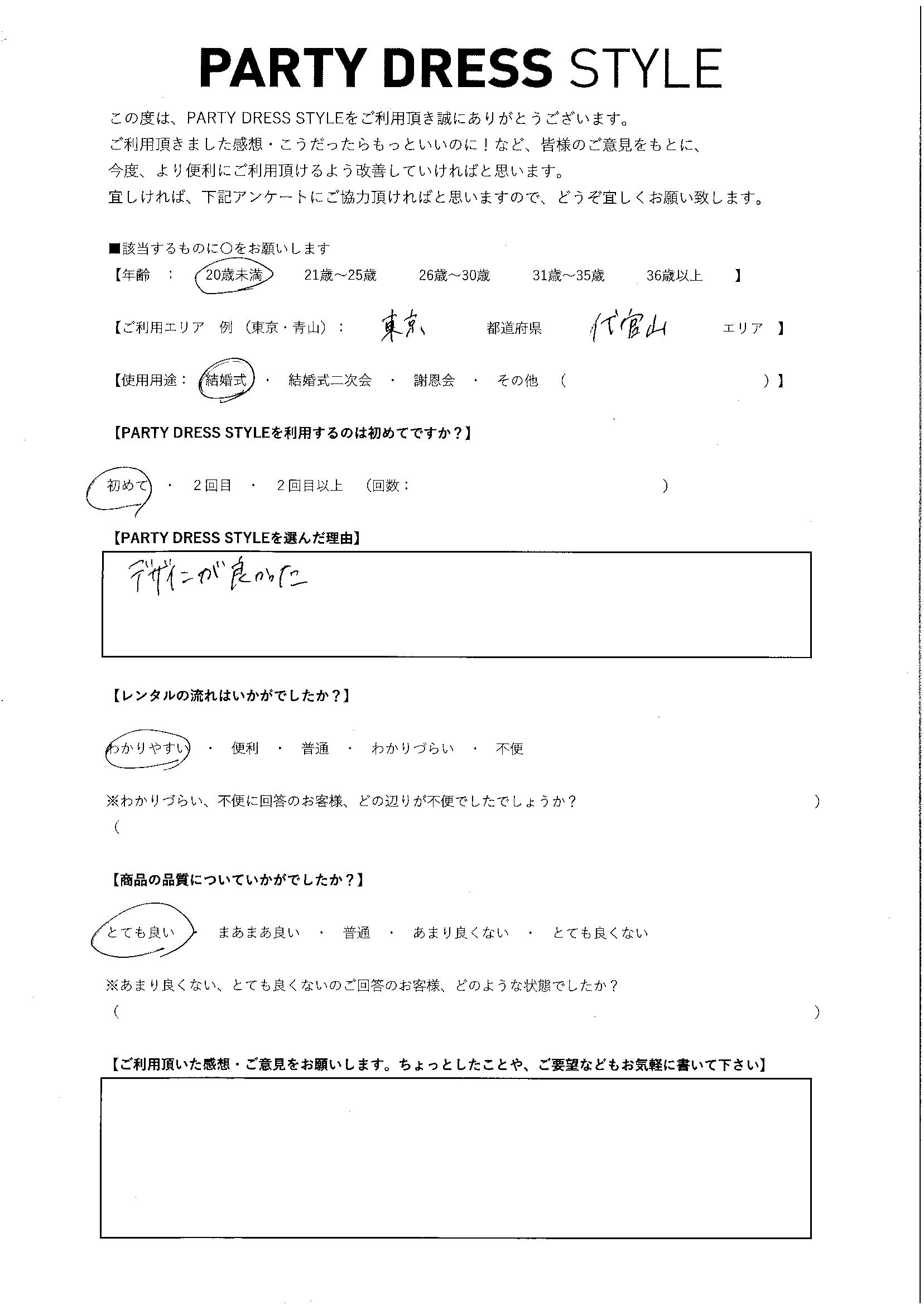 2/6結婚式ご利用 東京・代官山エリア