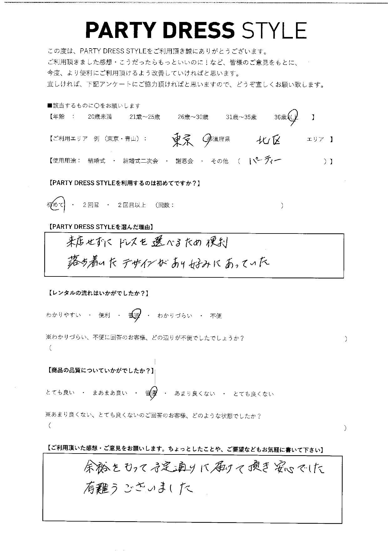5/29パーティーご利用 東京・北区エリア