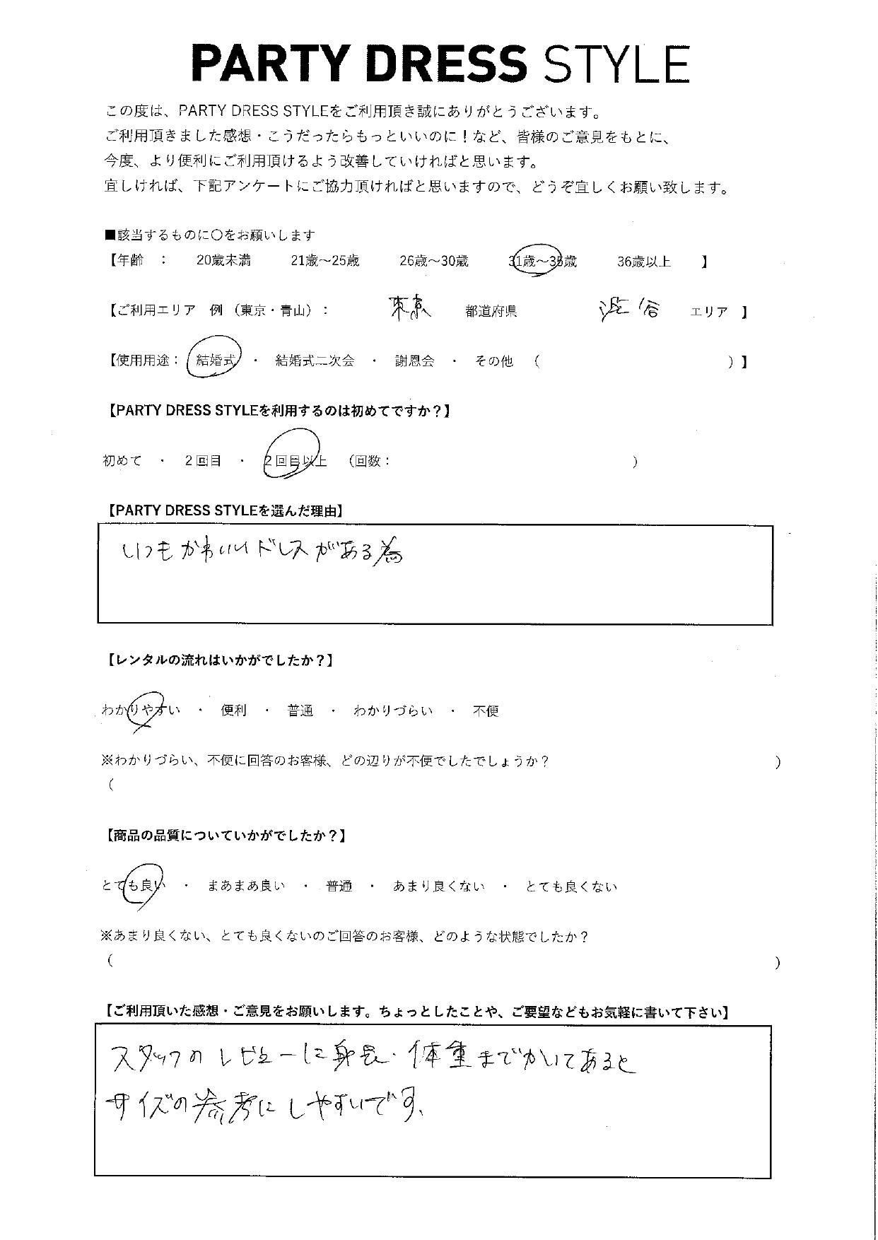 7/18結婚式ご利用 東京・渋谷エリア