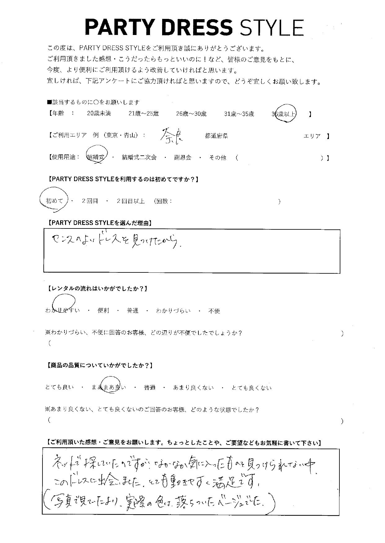8/28結婚式ご利用 奈良エリア