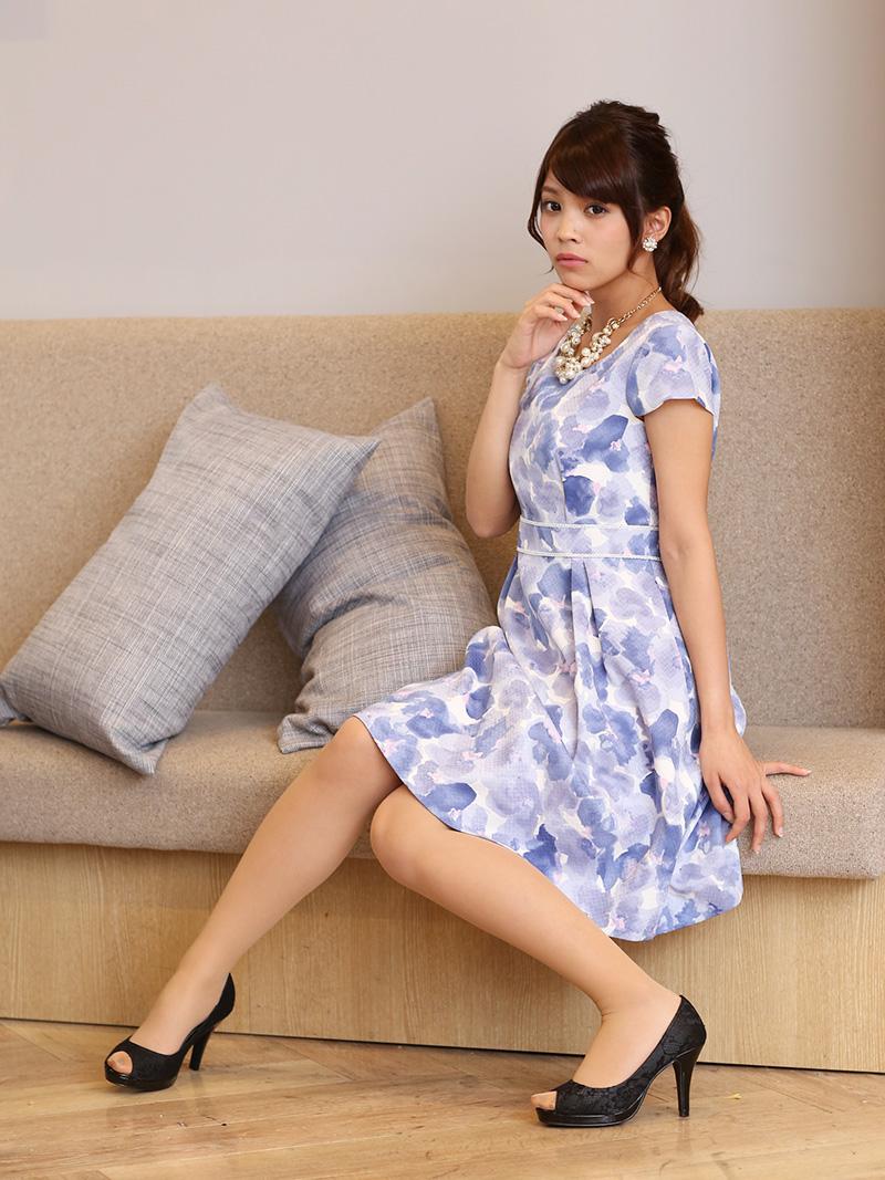 e10e389abbc3a 商品名:花柄×カジュアルワンピース(ブルー)GR1-162BU-S