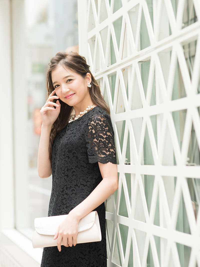 d56198523d08e 商品名:コードレースタイトドレス(ブラック)K1-262BL-M