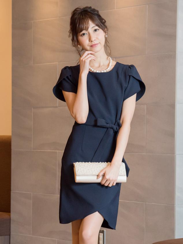 cd6ebf0d5a36e ツィードタイトドレス(レッド)K1-283RE-M